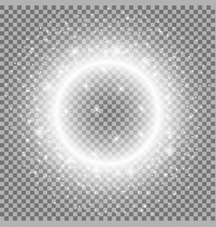 light ring with stardust white color vector image
