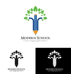 Modern school logo vector