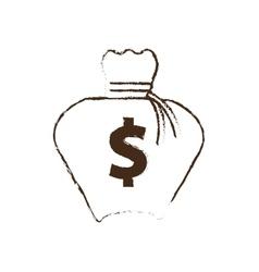 money bag business finance sketch vector image