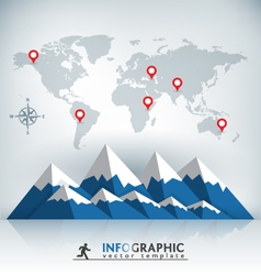 Mountain Infographic vector image