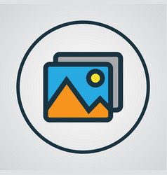 Picture colorful outline symbol premium quality vector