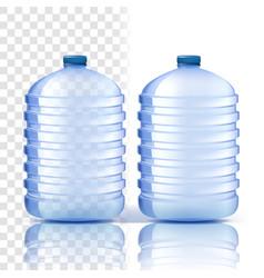 plastic bottle clean cover bluer classic vector image