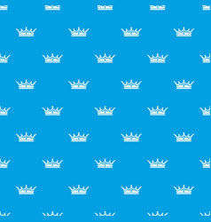 Princess crown pattern seamless blue vector