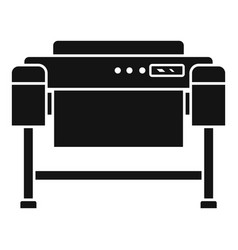 Printer plotter icon simple style vector