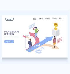 professional dicision website landing page vector image