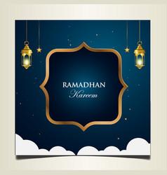 Ramadan kareem islamic background design vector