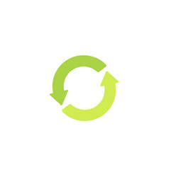 recycling green sign eco logo or icon with green vector image