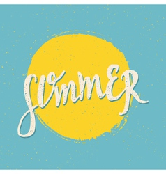 Retro style summer design greeting card vector
