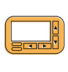Retro technology emergency call pager vector