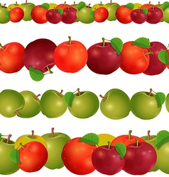 seamless border of apples seamless border of vector image