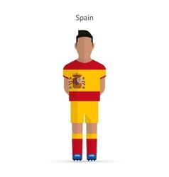Spain football player Soccer uniform vector image