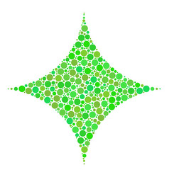 Sparkle star collage of dots vector