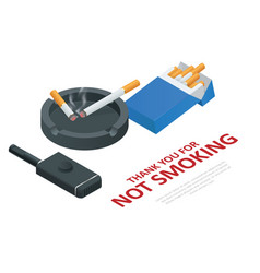 stop smoking cigarettes concept no smoking vector image