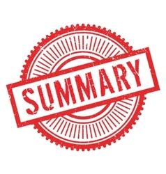 Summary stamp rubber grunge vector