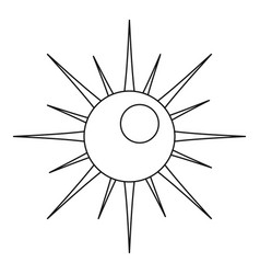sun icon outline style vector image