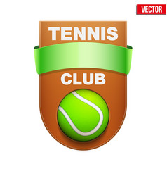 tennis badge and label vector image