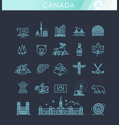 travel canada traditional objects vector image