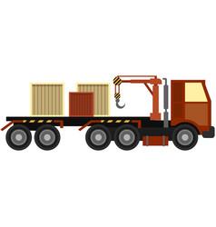 truck manipulator isolated on white vector image