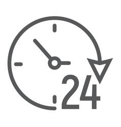 twenty four hour line icon e commerce vector image