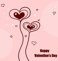 Valentines day cute hearts vector image