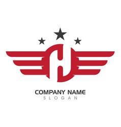 wing logo symbol vector image