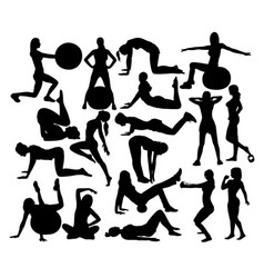 womens fitness gym vector image