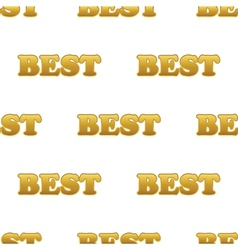Word BEST pattern vector image