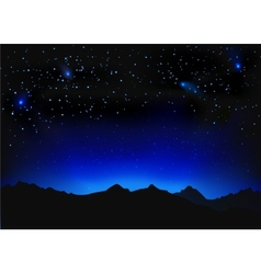 Beautiful night space landscape vector image