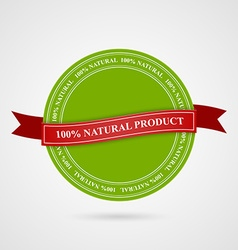 Eco Style Stamp Banner and Label vector image
