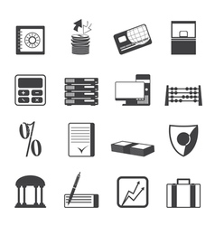 finance and office icons vector image vector image