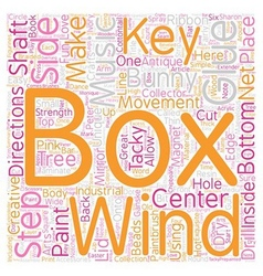 How to Make Your Own Unique Music Box text vector image vector image