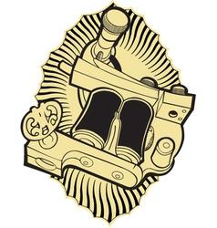 Machine tattoo vector