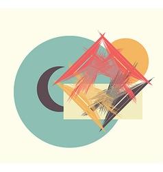 Moon sun house vector