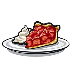 pie with strawberry vector image