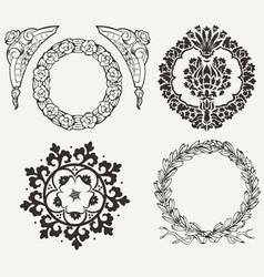 Set Of Four Circle Elements vector image vector image