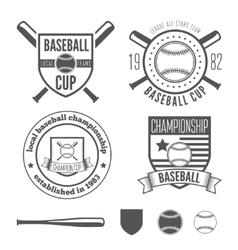 Set of vintage badge emblem and elements for vector image vector image