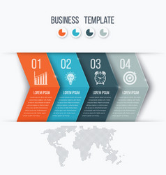 business project template with arrows vector image