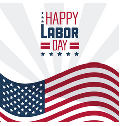 colorful poster of happy labor day with the vector image