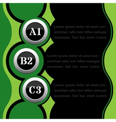 green and black infographics vector image
