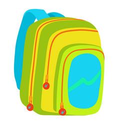 kids school bag icon cartoon style vector image