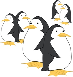 Penguin couples vector