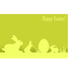 easter eggs bunny green background v vector image vector image