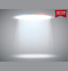 spotlight scene transparent light effect stage vector image vector image