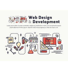 Web design and Development Icons and Symbols vector image