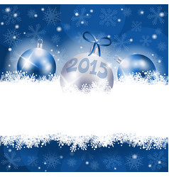 new year background with christmas ornament vector image