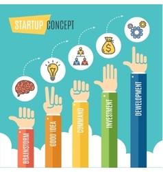 Start Up Motivation Infographic Flat vector image