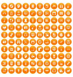 100 set orange vector image