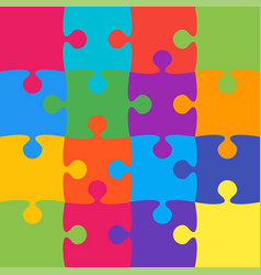 16 colorful background puzzle jigsaw banner vector