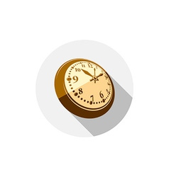 3d pocket watch graphic Three-dimensional timer vector