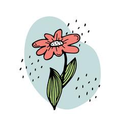 A cute red flower vector
